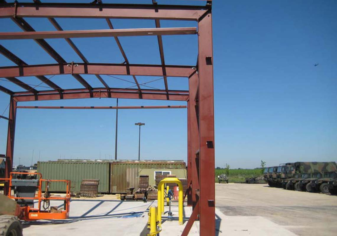 SKS Engineers project: Decatur, IL Armory - vehicle wash bay structural foundation design engineering