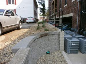 LE civil engineering and land development retaining walls