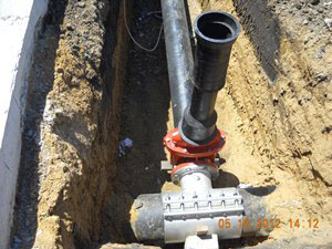 LE civil engineering and land development water main
