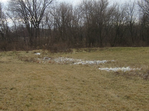 LE Engineering Living Hope Community Church in Bartonville, Illinois - storm water detention basin
