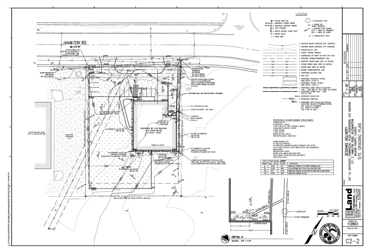 LE Engineering Zeschke Delivery Services site grading plan